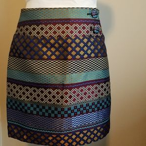 Maeve Skirt menswear inspired jewel tones